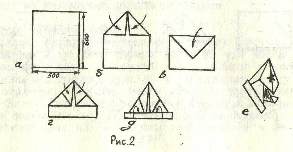 Буденовка из бумаги своими руками схемы 141
