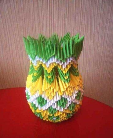 3d ваза - схема оригами